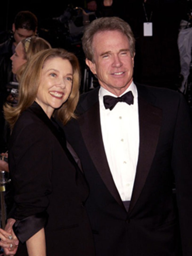 Annette Bening and Warren Beatty - Vanity Fair Oscar party in Beverly Hills, March 24, 2002