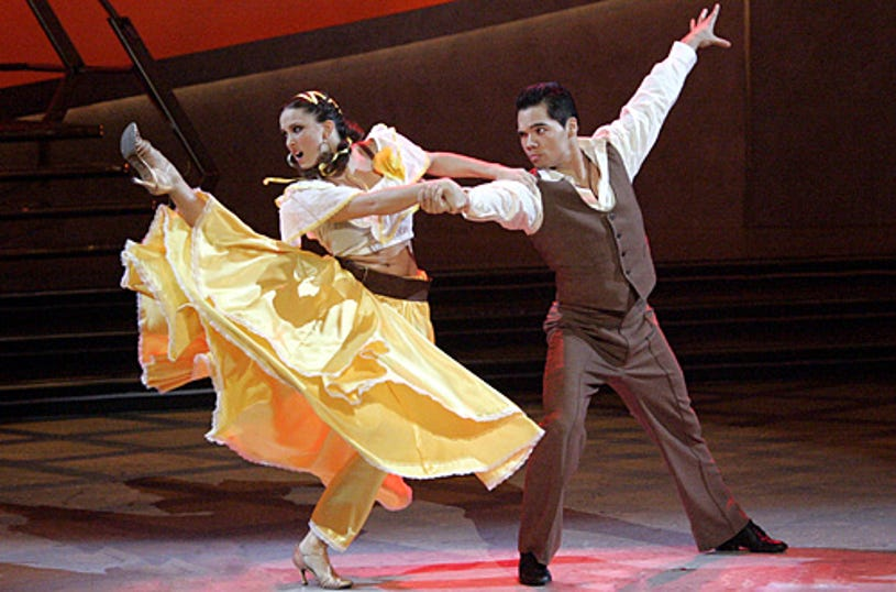 So You Think You Can Dance - Season 3 - Jaimie Goodwin (L) and Dominic Sandoval (R) perform a Viennese Waltz choreographed by Toni Redpath.