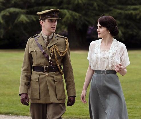 Downton Abbey - Season 2 - Dan Stevens as Matthew Crawley and Michelle Dockery as Lady Mary