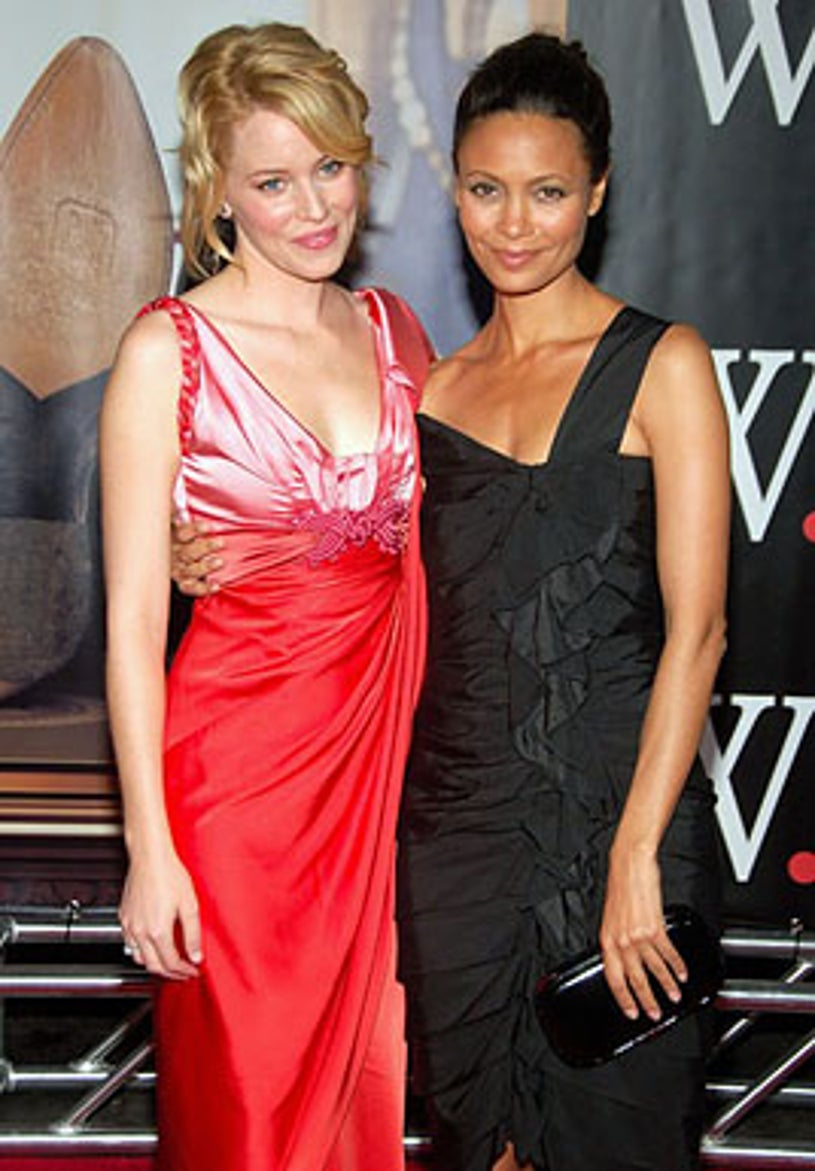 """Elizabeth Banks and Thandie Newton - The premiere of """"W."""" in New York City, October 14, 2008"""