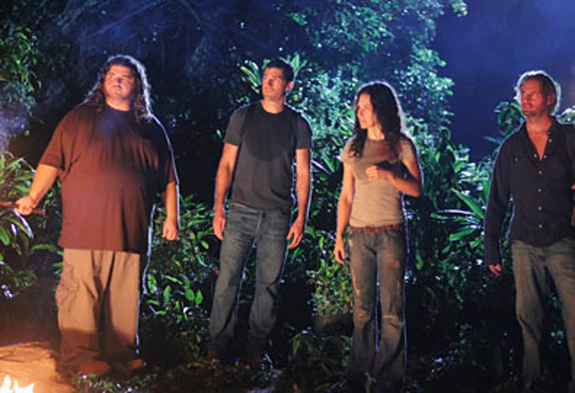 """Lost - Season 6 - """"What They Died For"""" - Jorge Garcia, Matthew Fox,Evangeline Lilly and Josh Holloway"""