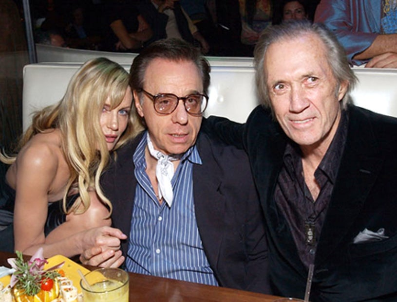 """Daryl Hannah, Peter Bogdanovich and David Carradine - """"Kill Bill: Volume 1""""  NYC premiere after party, Oct. 2003"""