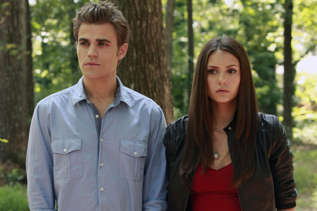 Paul Wesley and Nina Dobrev, The Vampire Diaries