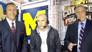 VIDEO: Watch Eminem's Bizarre ESPN Halftime Interview