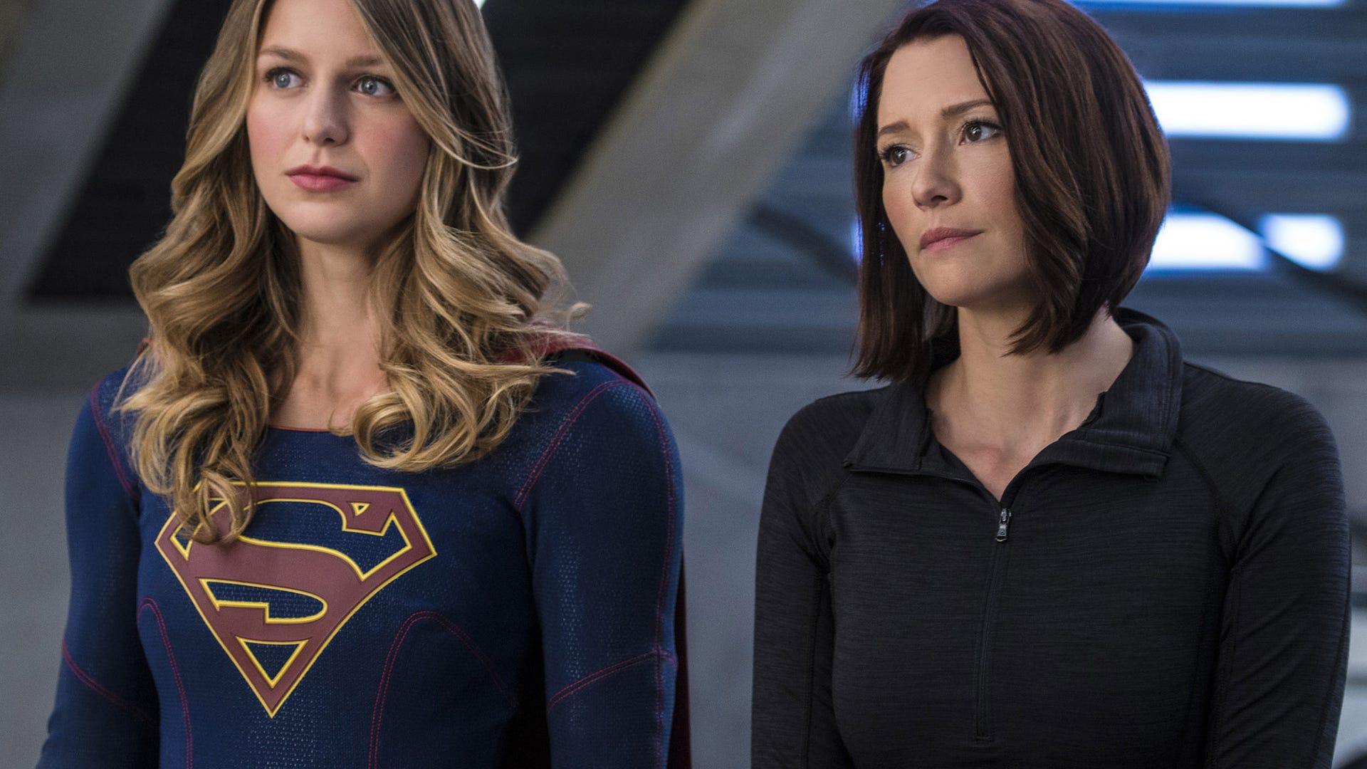 Melissa Benoist and Chyler Leigh, Supergirl