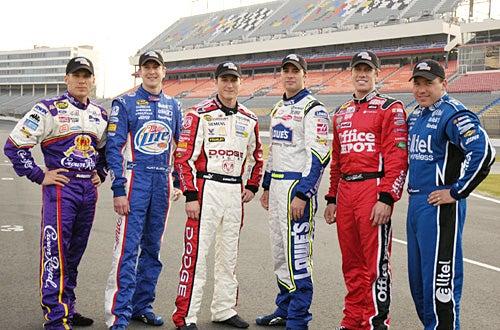 Fast Cars and Superstars: The Young Guns Celebrity Race - Jamie McMurray, Kurt Busch, Kasey Kahne, Jimmie Johnson, Carl Edwards, Ryan Newman