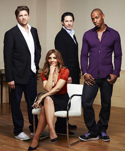 Necessary Roughness - Season 1 - Marc Blucas as Matthew, Callie Thorne as Danielle Santino, Scott Cohen as Nico and Mehcad Brooks as TK