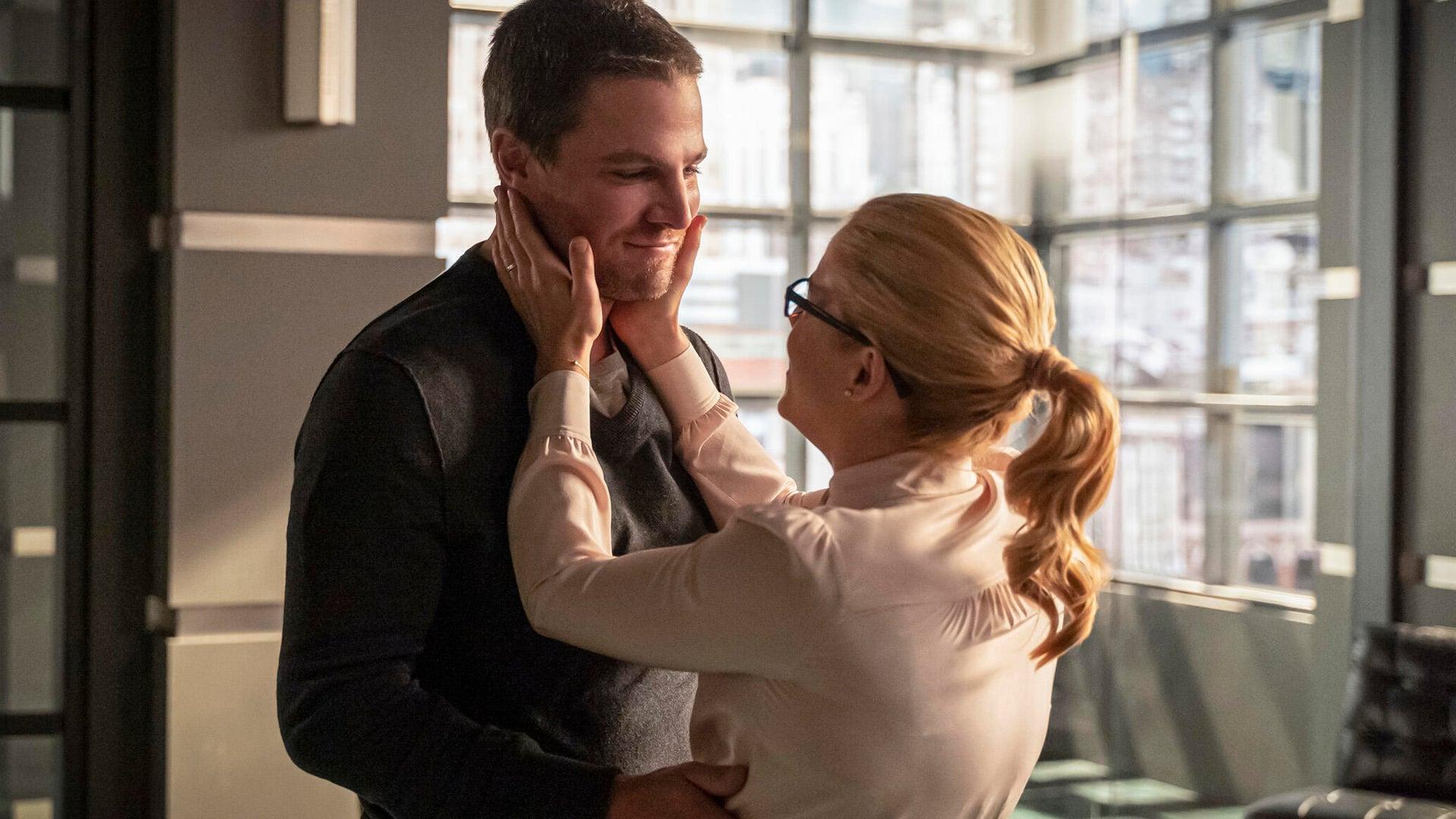 Stephen Amell and Emily Bett Rickards, Arrow