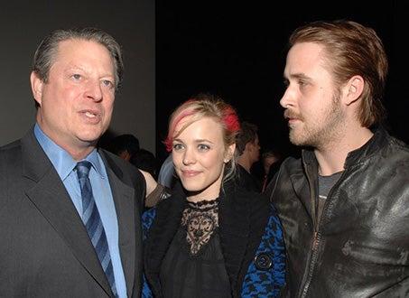 "Al Gore, Rachel McAdams and Ryan Gosling - ""Seeds of Tolerance"" Contest, Dec. 2004"