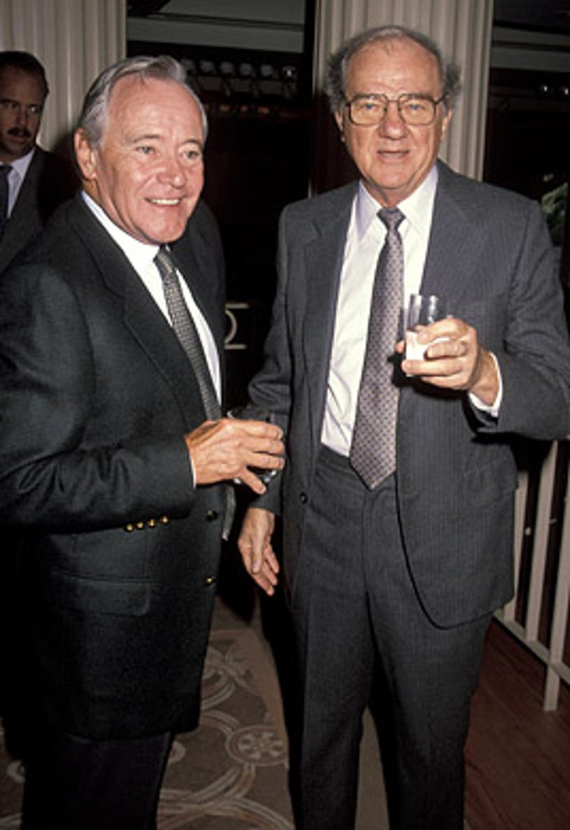 Jack Lemmon and Karl Malden - 4th Annual Eastman Second Century Awards luncheon, Beverly Hills. October 3, 1990