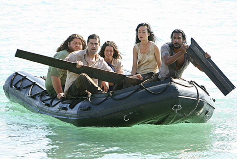 """Lost - Season 4 - """"There's No Place Like Home,"""" Parts 2 & 3 - Jorge Garcia, Matthew Fox, Evangeline Lilly, Yunjin Kim, Naveen Andrews"""