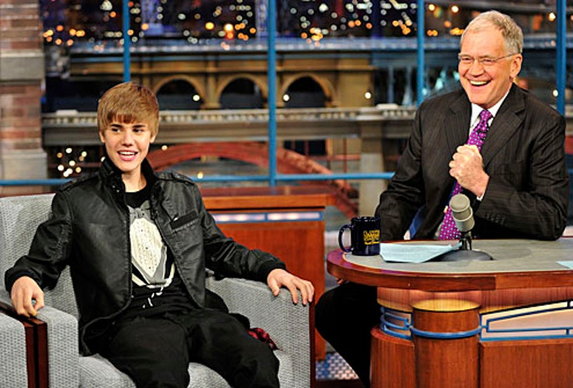Late Show with David Letterman - Justin Bieber, David Letterman - Jan. 31, 2011