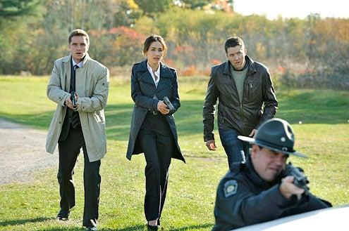 "Nikita - Season 3 - ""Survival Instincts"" - Devon Sawa, Maggie Q and Josh Braaten"