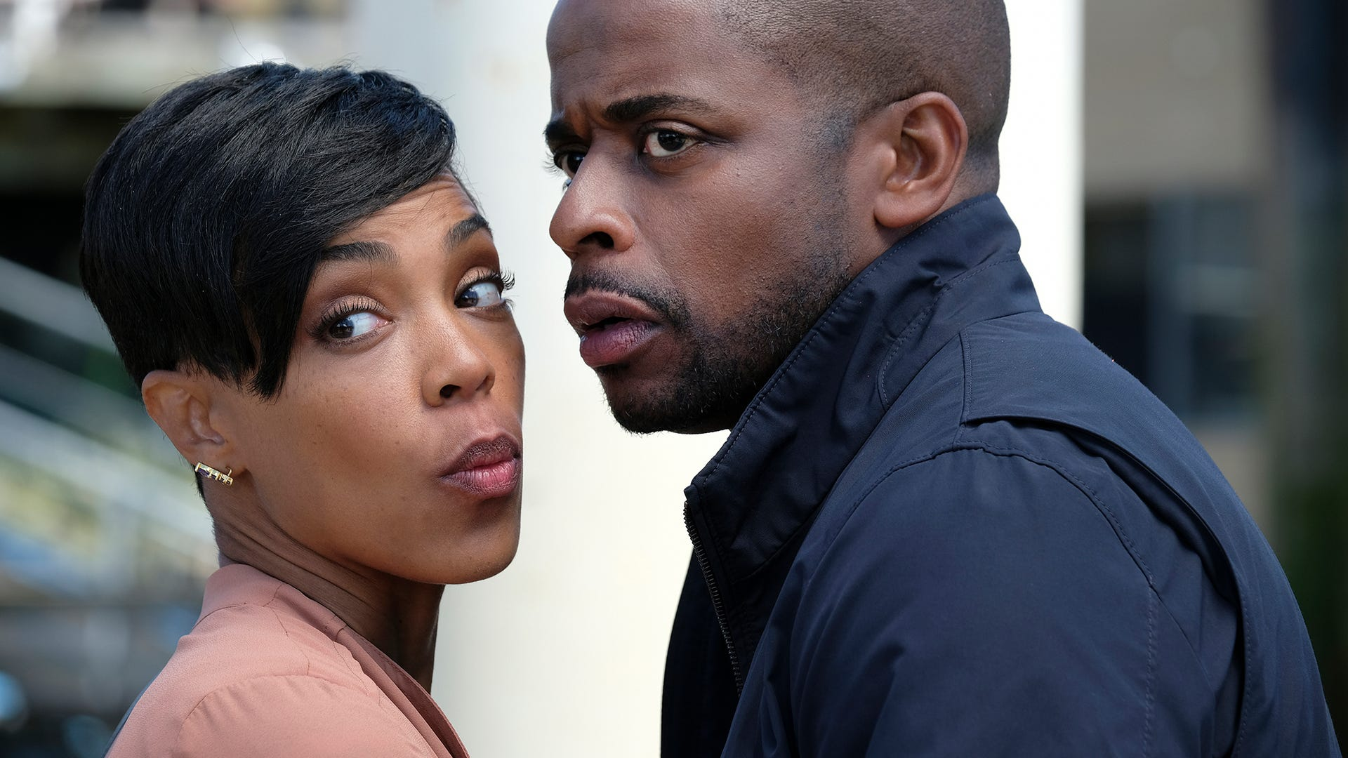 Dule Hill and Jazmyn Simon, Psych: The Movie