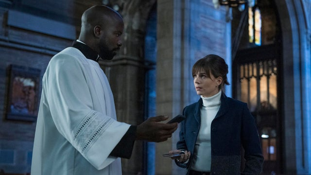 Mike Colter and Katja Herbers, Evil