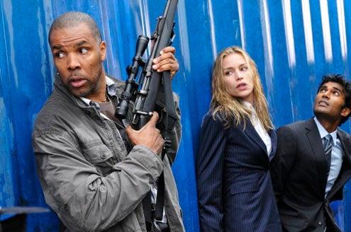 "Covert Affairs - Season 1 - ""In the Light"" - Eriq La Salle as Christopher McAuley, Piper Perabo as Annie Walker and Sendhil Ramamurthy as Jai Wilcox"