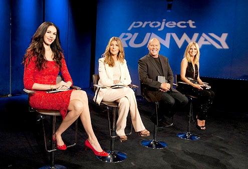 "Project Runway - Season 9 - ""Finale Part Two"" -  Lauren Scott, Nina Garcia, Michael Kors and Heidi Klum"