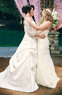 "Grey's Anatomy - Season 7 - ""White Wedding"" - Sara Ramirez, Jessica Capshaw"