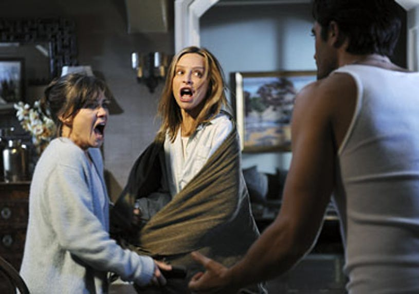 """Brothers & Sisters - Season 4 - """"Zen & the Art of Mole Making"""" - Sally Field, Calista Flockhart and Gilles Marini"""