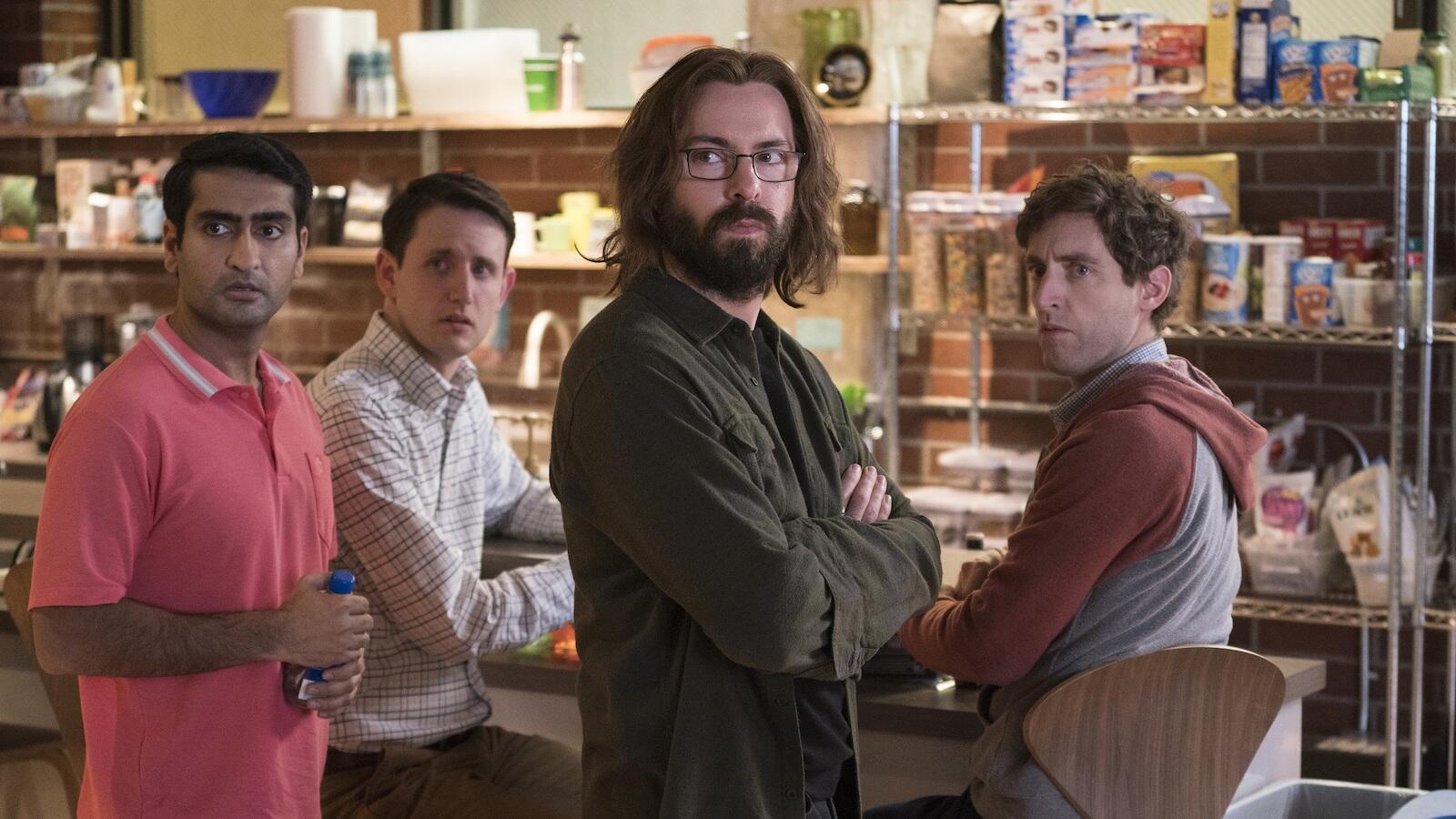 Kumail Nanjiani, Zach Woods, Martin Starr, and Thomas Middleditch, Silicon Valley