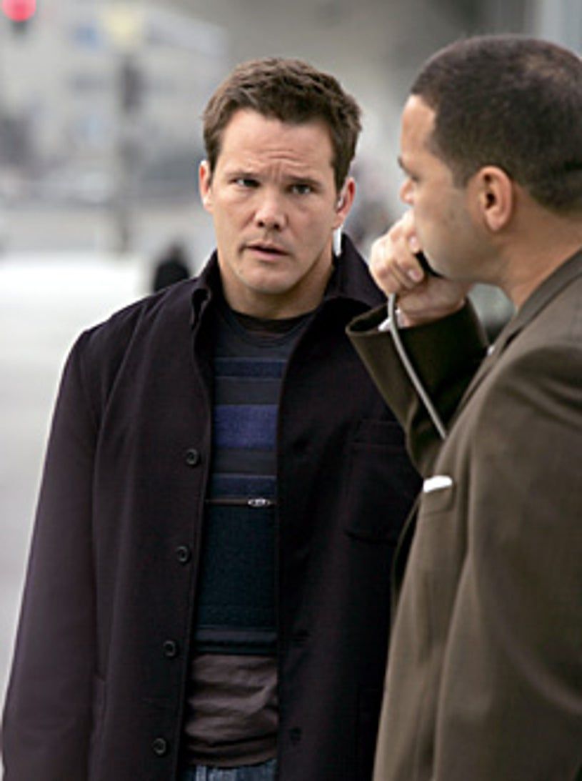 """Numb3rs - Season 3, """"One Hour"""" - Dylan Bruno as Colby"""