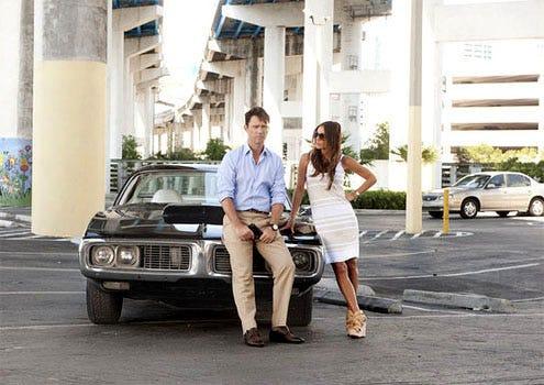 "Burn Notice - Season 5 - ""No Good Deed"" - Jeffrey Donovan as Michael Westen and Gabrielle Anwar as Fiona Glenanne"
