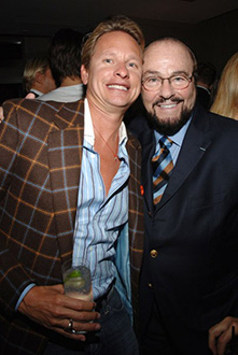 """Carson Kressley and James Lipton - """"The Black Dahlia""""  after party, Sept. 2006"""