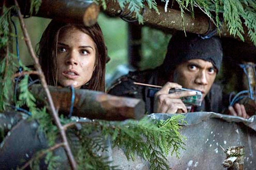 """The 100 - Season 1 - """"We Are Grounders - Part 2"""" - Marie Avgeropoulos and Jarod Joseph"""