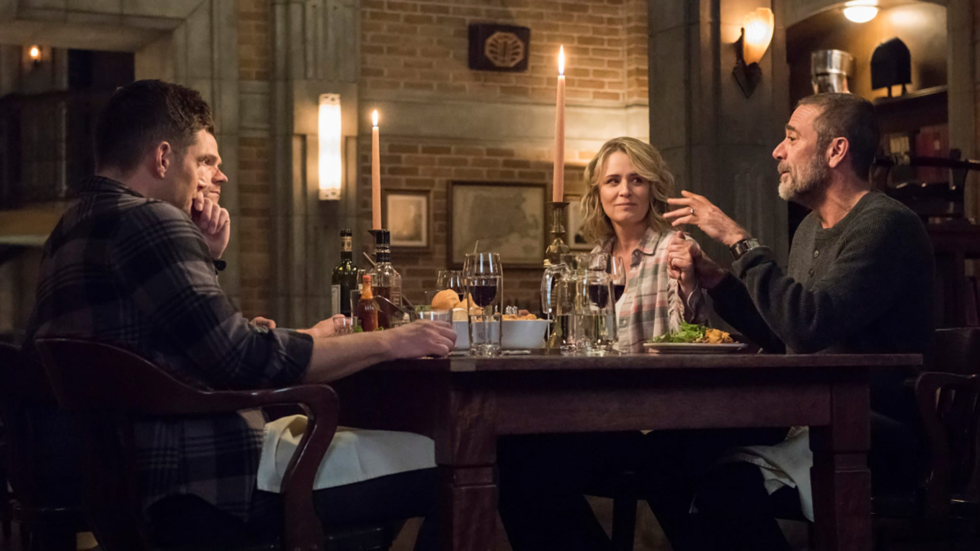 Jensen Ackles, Jared Padalecki, Samantha Smith and Jeffrey Dean Morgan, Supernatural