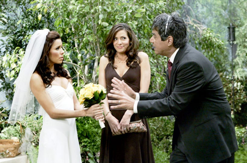 "George Lopez -""George Vows to Make Some Matri-Money""- Eva Longoria, Constance Marie, George Lopez"