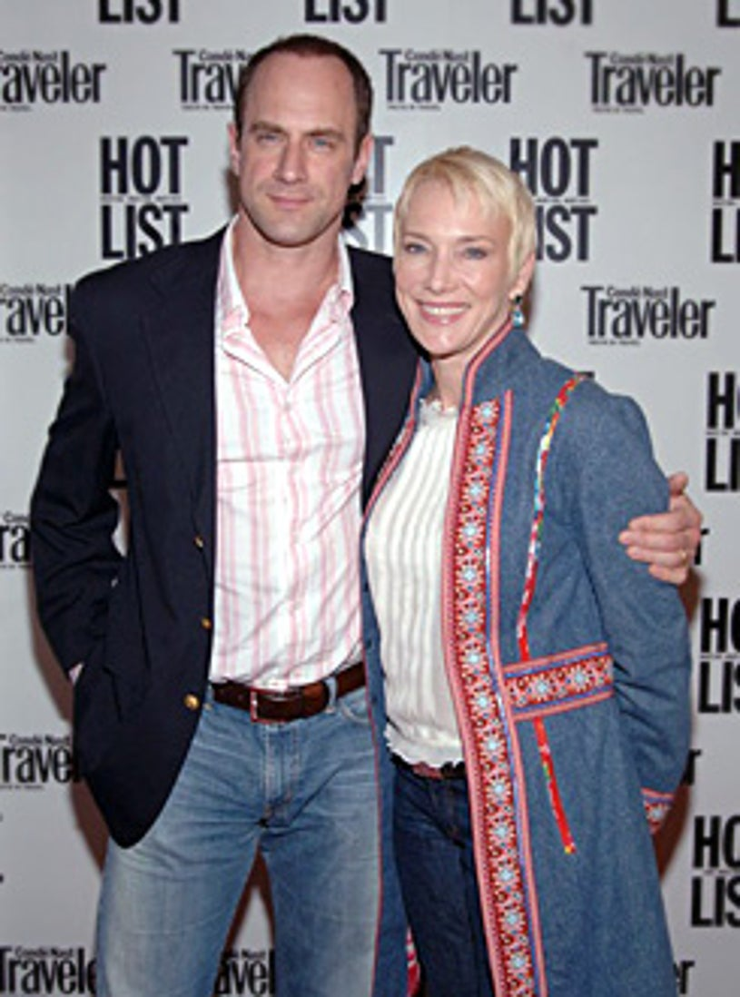 Christopher Meloni with his wife, Sherman Williams, 2005