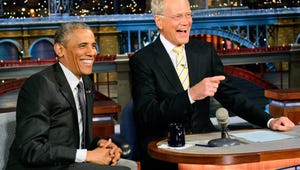 VIDEO: Obama Challenges Letterman to Dominoes on The Late Show
