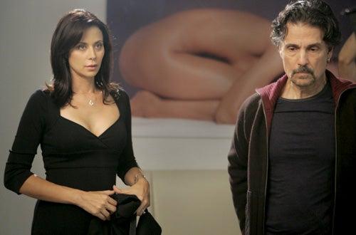 "Law & Order: SVU - Season 8 - ""Choreographed""- Catherine Bell as Naoimi Cheales and Chris Sarandon as Westley Masoner"