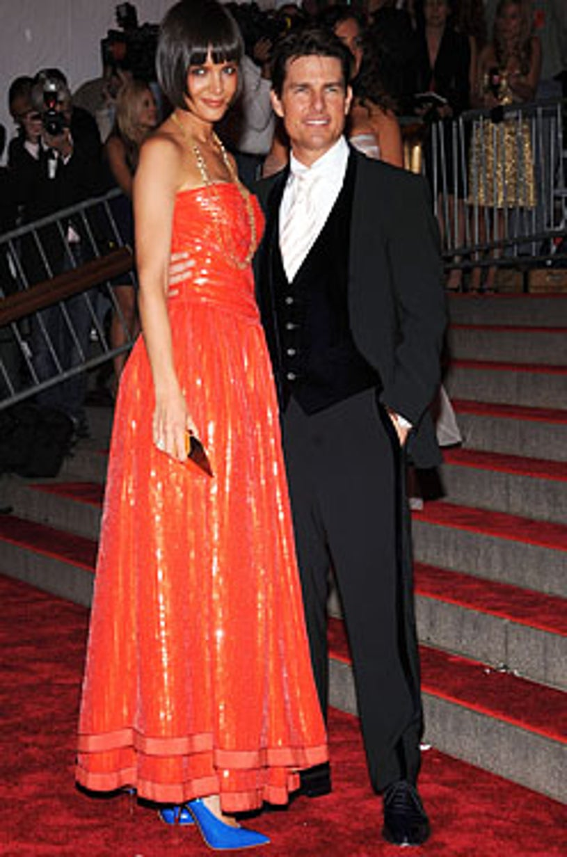 """Katie Holmes and Tom Cruise - The Metropolitan Museum of Art Costume Institute Gala """"Superheroes: Fashion And Fantasy"""" in New York City, May 5, 2008"""