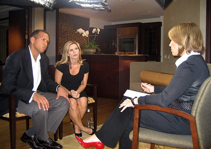 60 Minutes - Katie Couric interviews Yankee superstar Alex Rodriguez and his wife Cynthia