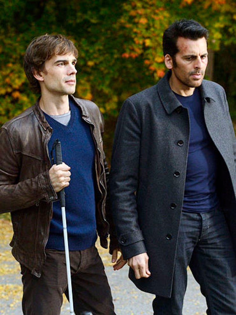 """Covert Affairs - Season 3 - """"Lady Stardust"""" - Christopher Gorham and Oded Fehr"""