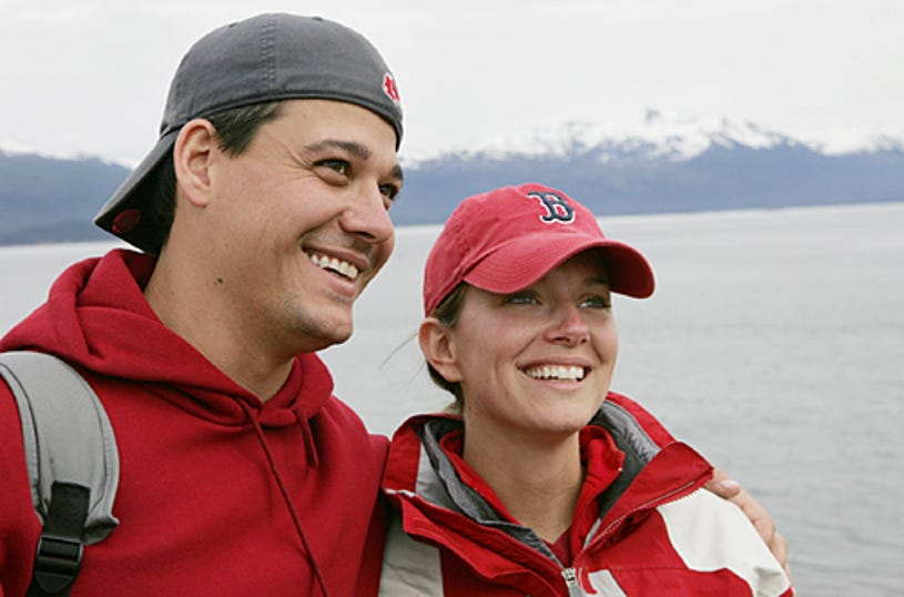 """Amazing Race: All-Stars - """"No Babies On The Race!"""" - Rob and Amber were the last team to arrive at the mat in Argentina and become the fourth team to be eliminated from the Race."""
