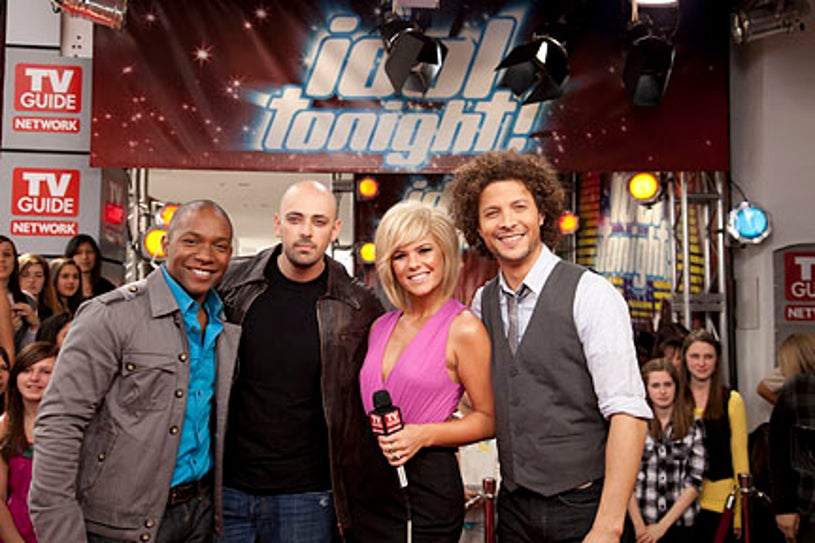 Idol Tonight - Hosts Kimberly Caldwell and Justin Guarini join guests, former Idol finalists Brandon Rogers and Phil Stacey