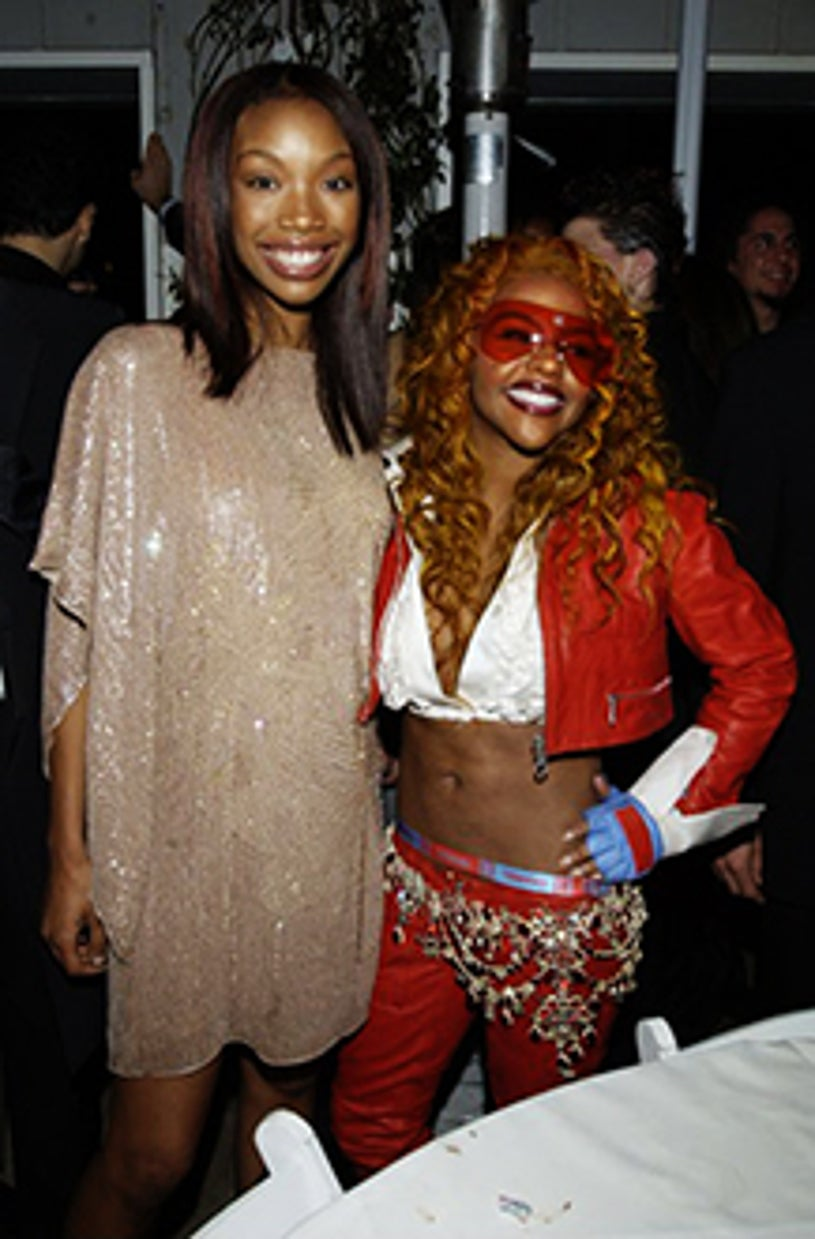 Brandy and Lil' Kim - The 44th Annual Grammy Awards, February 27, 2002