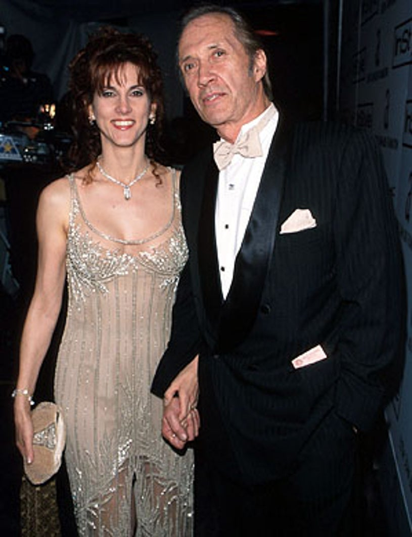 David Carradine and ex-wife Marina Anderson-Carradine - 70th Annual Academy Awards Elton John party, Beverly Hills, March 23, 1998