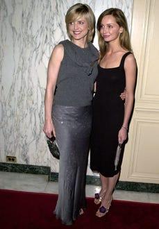 Courtney Thorne-Smith & Calista Flockhart - A Family Celebration Second Annual Gala, April 1, 2001