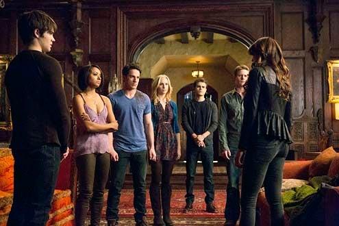 "The Vampire Diaries - Season 5 - ""Gone Girl"" - Steven R. McQueen, Kat Graham, Michael Trevino, Candice Accola, Paul Wesley, Zach Roerig and Nina Dobrev"