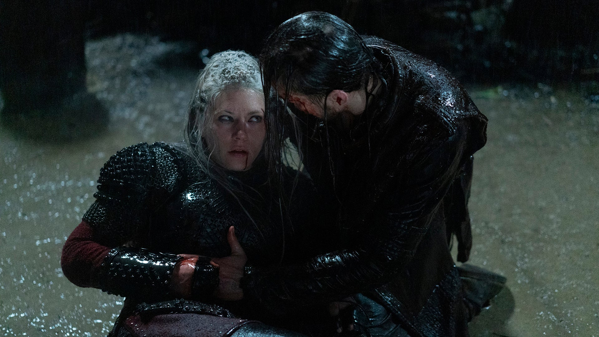 Katheryn Winnick and Marco Ilsø, Vikings