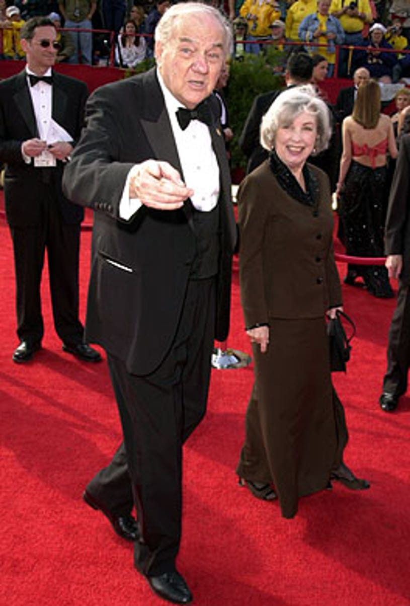 Karl Malden and wife Mona Greenberg - 73rd Annual Academy Awards, Los Angeles, March 25, 2001