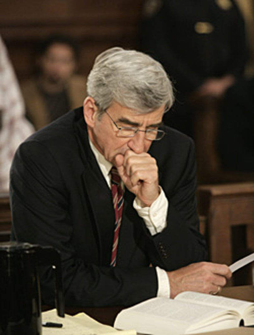 """Law & Order - """"Talking Points"""" - Sam Waterston as Executive Assistant District Attorney Jack McCoy"""