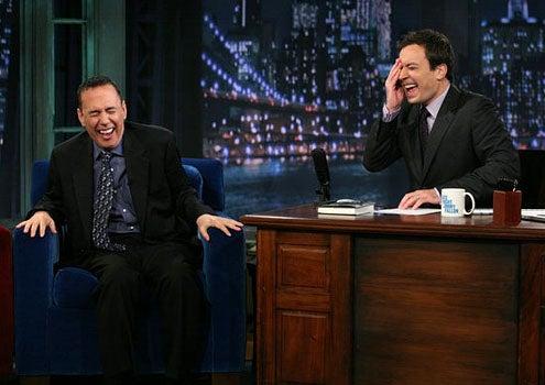 Late Night with Jimmy Fallon - Season 3 - Gilbert Gottfried and Jimmy Fallon
