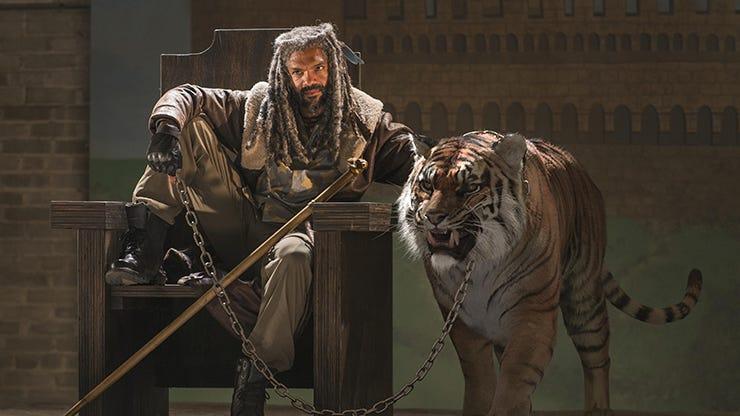 Khary Payton and Shiva, The Walking Dead