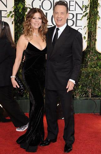 Rita Wilson and Tom Hanks - The 68th Annual Golden Globe Awards, January 16, 2011