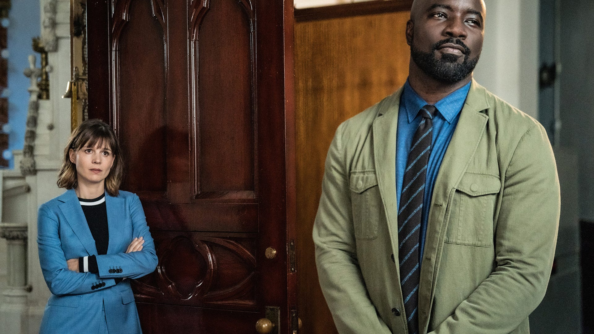 Katja Herbers and Mike Colter, Evil