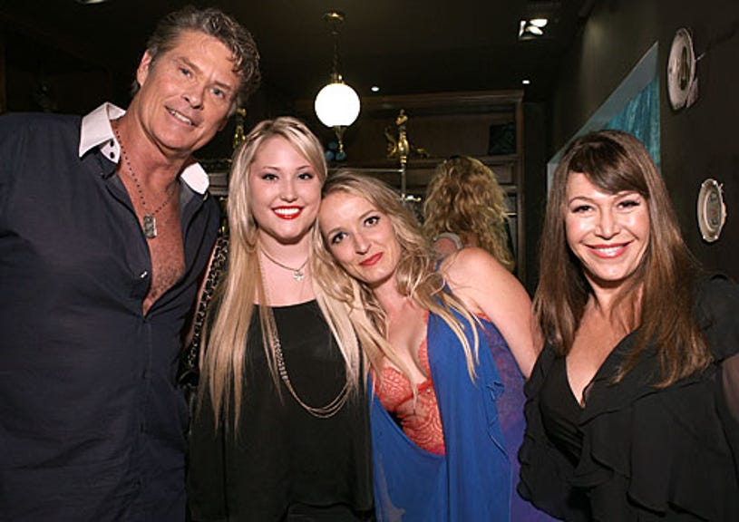 """David Hasselhoff - Hayley Hasselhoff, an unidentified guest and Carol Malony - """"Paris in LA"""" at Coco de Mer, September 23, 2009"""
